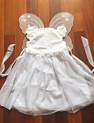 cheap -Little White Fairytale with Wings Kids Christmas Costume Halloween Costumes
