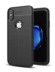 abordables -Coque Pour Apple iPhone X iPhone 8 Antichoc Coque Couleur unie Flexible Silicone pour iPhone X iPhone 8 Plus iPhone 8 iPhone 7 Plus