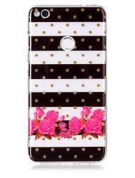 Недорогие -чехол для huawei p8 lite (2017) p10 lite phone case tpu материал цветочный узор hd phone case p9 lite