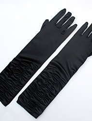 cheap -Spandex Fabric Elbow Length Glove Classic Style / Bridal Gloves / Party / Evening Gloves With Ruffles