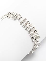 Dámské Řetězové & Ploché Náramky imitace drahokamu Módní Štras Slitina Šperky Pro Párty Denní