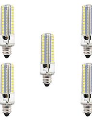 baratos -BRELONG® 5pçs 8W 700lm E14 Lâmpadas Espiga 152 Contas LED SMD 3014 Regulável Branco Quente Branco 220V 110V
