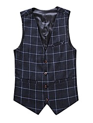 cheap -Men's Plus Size Work Casual Spring Fall Vest
