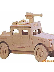 cheap -3D Puzzles Toy Cars Model Building Kits Military Vehicle Toys Car Vehicles Military Special Designed New Design Kids Pieces