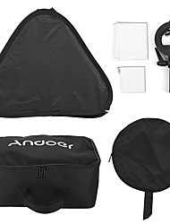 andoer photo studio multifuncional 60 * 60cm folding softbox com s-tipo handheld flash speedlite bracket com montagem de bowens e saco de
