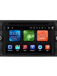 cheap -7inch 2 DIN 1024 x 600 Android 7.1 Car DVD Player  for Ford High Definition Bluetooth Built-in Bluetooth GPS RDS WiFi Touch Screen SD /