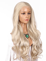 cheap -Women Synthetic Wig Lace Front Long Wavy Blonde Natural Hairline Lolita Wig Party Wig Celebrity Wig Halloween Wig Costume Wig