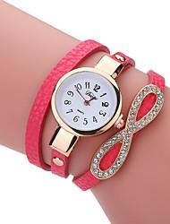 cheap -Women's Fashion Watch Bracelet Watch Simulated Diamond Watch Quartz PU Band Analog Casual Elegant Black / White / Blue - Blue Pink Light Blue