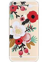 Para iPhone 7 iPhone 7 Plus Case Tampa Ultra-Fina Estampada Capa Traseira Capinha Flor Macia PUT para Apple iPhone 7 Plus iPhone 7 iPhone