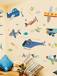 cheap -Transportation Wall Stickers Plane Wall Stickers Decorative Wall Stickers, Plastic Home Decoration Wall Decal Wall