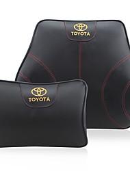 Settore automobilistico Kit di cuscino per poggiatesta e cuscini Per Toyota Tutti gli anni Tutti i modelli Cuscini lombari per auto Pelle