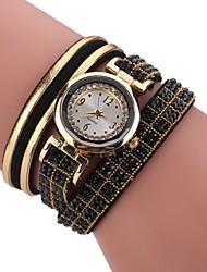 abordables -Mujer Reloj Pulsera / Simulado Diamante Reloj Chino La imitación de diamante PU Banda Encanto / Casual / Bohemio Negro / Blanco / Azul