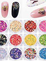12 color Round Shape Dazzle Colour Sequins 1g/box