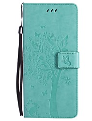 cheap -For Case Cover Card Holder Wallet with Stand Flip Pattern Full Body Case Cat Tree Hard PU Leather for Samsung Note 8 Note 5 Note 4 Note 3