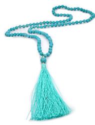 baratos -Mulheres Colares com Pendentes Colarinho  -  Fashion Estilo simples Azul Escuro Colar Para Casamento Diário