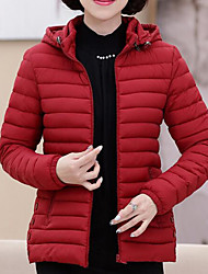 cheap -Women's Regular Padded Coat,Vintage Casual Chinoiserie Daily Plus Size Work Solid-Others Polypropylene Long Sleeves