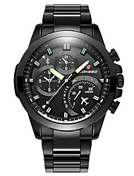 Men's Sport Watch Fashion Watch Wrist watch Japanese Quartz Calendar Water Resistant / Water Proof Three Time Zones Shock Resistant Large