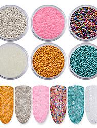 preiswerte -6 teile / satz nagel micro kaviar perlen maniküre mini 3d glitter dekoration