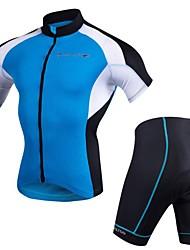 Realtoo Cyklodres a kraťasy Pánské Krátký rukáv Jezdit na kole Sady oblečení Rychleschnoucí Anatomický design 3D Pad Lehký Prodyšnost