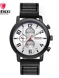 cheap -CHENXI® Men's Quartz Wrist Watch Japanese Hot Sale Leather Band Luxury Casual Dress Watch Fashion Cool Black