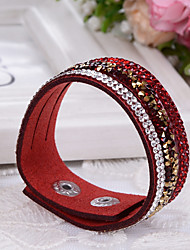 preiswerte -Damen Lederarmbänder Armband Modisch Einstellbar Leder Schmuck Für Hochzeit Alltag