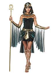 Costumes égyptiens Cleopatra Costumes de Cosplay Casque Costume de Soirée Féminin Fête / Célébration Déguisement d'Halloween Vert foncé