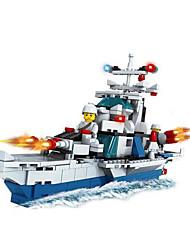 Blocos de Construir Brinquedos Inovador Barco de Guerra Peças Não Especificado Dom