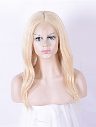 cheap -Women Human Hair Lace Wig Lace Front 130% Density Straight Wigs Brazilian Hair Blonde Medium Long Natural Hairline