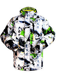 cheap -Men's Ski Jacket Warm Waterproof Windproof Breathable Ski / Snowboard Winter Sports Rayon Terylene
