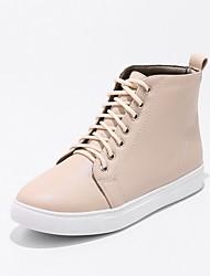 economico -Da donna Scarpe PU (Poliuretano) Autunno Inverno Comoda Sneakers Piatto Punta tonda Lacci Per Nero Beige Rosa