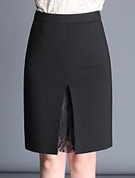 preiswerte -Damen Übergrössen Stifte Röcke - Solide Spitze