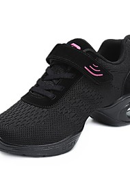 "cheap -Women's Dance Sneakers Knit Sneaker Outdoor Low Heel Black Red 1"" - 1 3/4"""