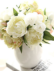 Artificial Silk Peony Bouquet New Wedding Flower Bride Peony Bouquet 8 Branch/Bundle