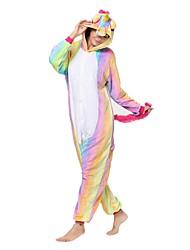 Kigurumi Pajamas Unicorn Costume Pink Flannel Kigurumi Leotard / Onesie Cosplay Festival / Holiday Animal Sleepwear Halloween Animal For
