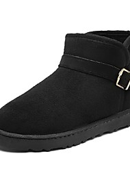 Men's Shoes Suede Fall Winter Snow Boots Boots Mid-Calf Boots Split Joint For Casual Outdoor Blue Brown Yellow Gray Black