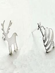 Damen Unterschiedliche Ohrringe Schmuck nette Art Chrismas Sterling Silber Tierform Schmuck Für Normal Weihnachten
