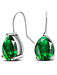 cheap -Women's Drop Earrings AAA Cubic Zirconia Luxury Simple Style Sterling Silver Zircon Drop Jewelry Daily Office & Career Costume Jewelry