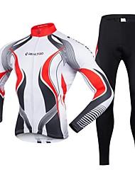 billiga Sport och friluftsliv-Realtoo Herr Långärmad Cykeltröja och tights Cykel Klädesset, Snabb tork, 3D Tablett