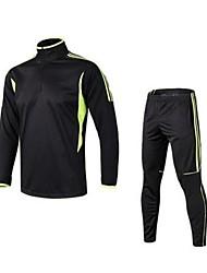 economico -Per uomo T-shirt e pantaloni da corsa Manica lunga Asciugatura rapida Traspirabilità Elastico Set di vestiti per Corsa Esercizi di fitness
