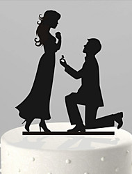 inserts de gâteau acrylique résumé décoration de poupée de gâteau marié et marié