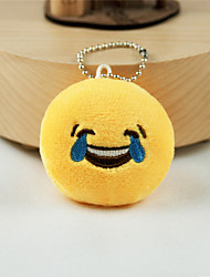 cheap -New Arrival Cute Emoji Laugh to Tears Key Chain Plush Toy Gift Bag Pendant