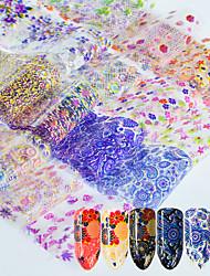 Недорогие -16 С рисунком Аксессуары Наклейка кружева 3D-стикеры для ногтей Стикер Компоненты для самостоятельного изготовления Кружева 3-D Мода