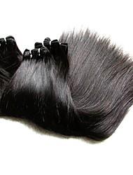 preiswerte -8a brasilianisches reines Haar Seide gerade Stil 3bundles 300g Los brasilianische remy Menschenhaarverlängerungen spinnt weiche glatte