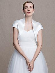 economico -abito da sposa in raso elasticizzato / per donna da sera avvolge le spalle con uno stile elegante