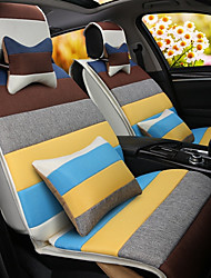 cheap -A Rainbow Cartoon Car Cushion Linen Cushion Seat Cover Seat Four Seasons General All Around Whole Linen -2#