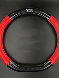 Automobile Protège Volant(Fibre de Carbone)Pour Audi Toutes les Années A4L Q5 Q7 TT A3 A8L Q3 A1