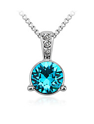 cheap -Women's Round Personalized Fashion Choker Necklace Pendant Necklace Crystal Cubic Zirconia Zircon Silver Plated Choker Necklace Pendant