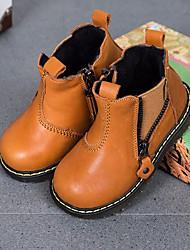 Jungen Schuhe Leder Herbst Winter Komfort Sneakers Für Normal Braun