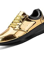 preiswerte -Herrn PU Frühling / Herbst Komfort Sneakers Gold / Schwarz / Grau