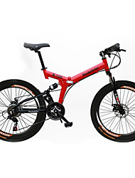 Mountain Bike Cycling 21 Speed 26 Inch/700CC SHINING SYS Disc Brake Suspension Fork Soft-tail Frame Removable Folding Ordinary/Standard